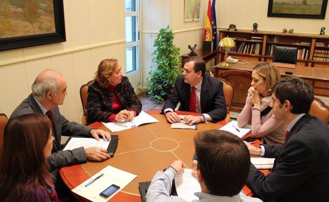 Soriano en la reunión con el secretario de Estado