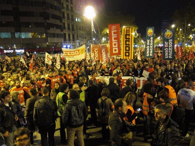 Manifestación por la huelga general en Barcelona