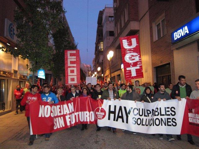 Manifestación Badajoz 14N