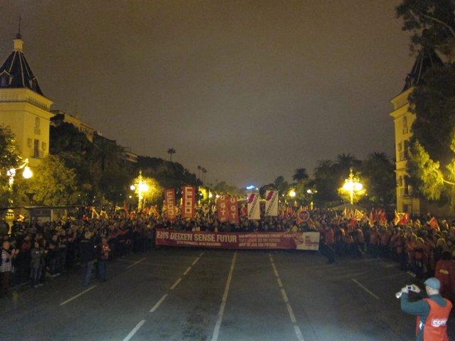 Manifestación En Valencia Durante El 14N