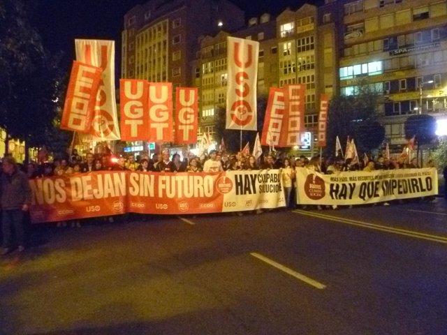 Manifestación 14N en Santander