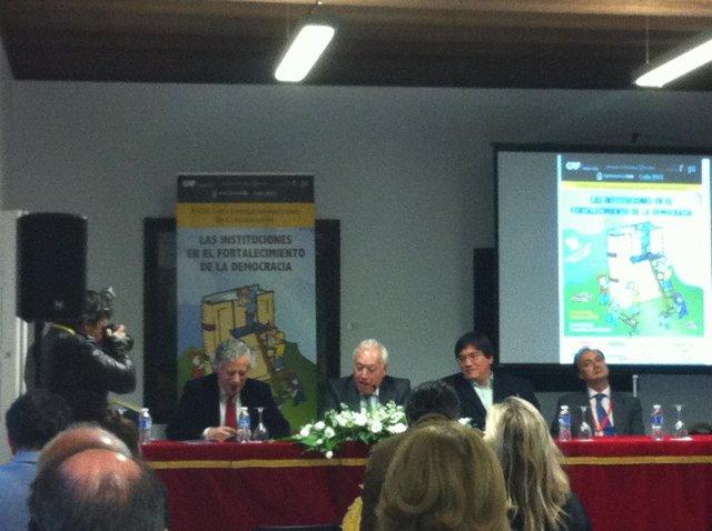 García Margallo durante su participación en el Foro Iberoamericano de Comunicaci