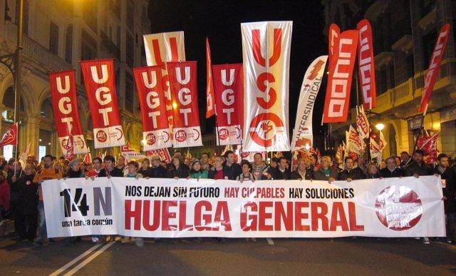 Manifestación de la huelga general del 14 de noviembre