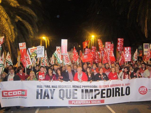 Manifestación de la huelga del 14N
