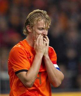 Kuyt de Holanda, durante el partido ante Alemania