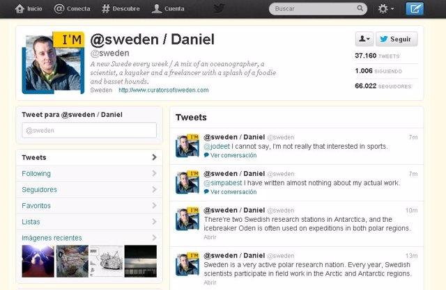 Cuenta en Twitter del gobierno sueco gestionada por un ciudadano cada semana