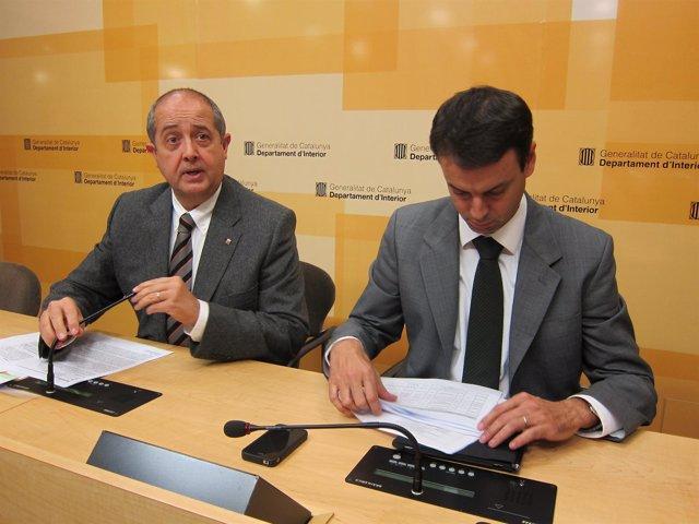 El conseller F.Puig y el dtor. De Mossos Manel Prat