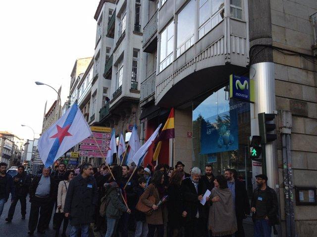 Diputados de AGE van al Parlamento de Galicia