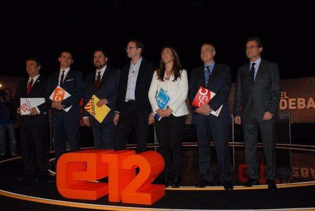 Candidatos a las elecciones catalanas 2012 en el debate de TVC