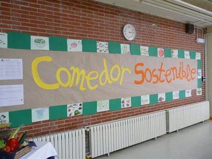 Un colegio de Zaragoza introduce platos ecológicos en el comedor