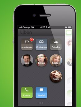 Aplicación de llamadas gratuitas Libon