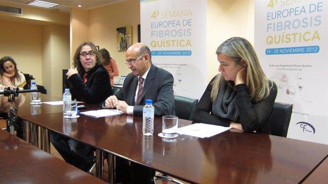 Moreno, Castillo y Solé; en la IV Semana de Sensibilización de Fibrosis Quística
