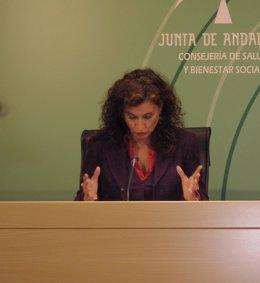 La consejera de Salud, María Jesús Montero