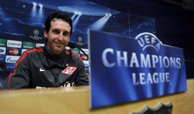 Unai Emery Spartak de Moscú Barcelona Liga Campeones Champions