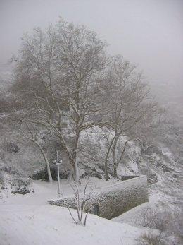 Nieve En Sant Pere De Rodes, Girona