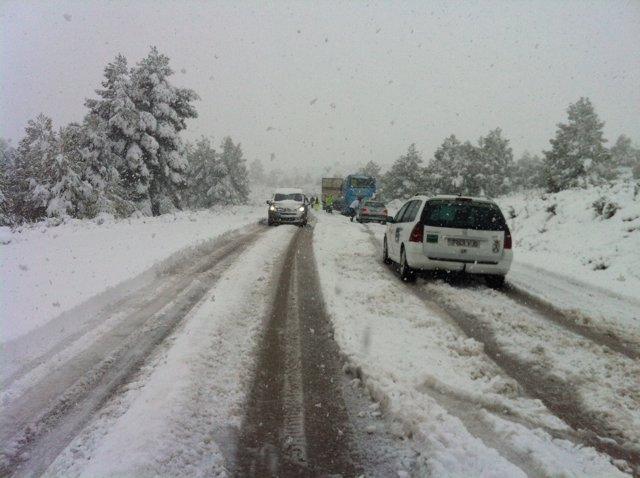 Nieve, Coches, Hielo, Carreteras, Temporal