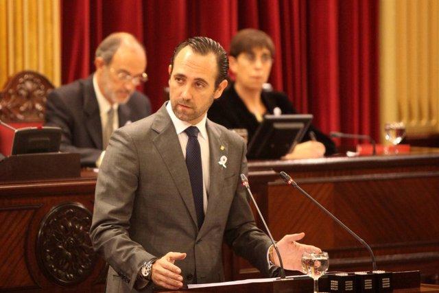 José Ramón Bauzá en el Parlament