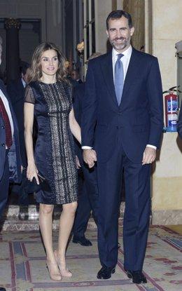 Principe Felipe y princesa Letizia
