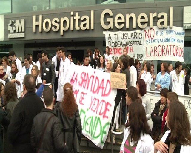 Primera jornada de huelga sanitaria en Madrid