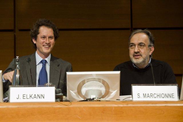Sergio Marchionne Y John Elkann