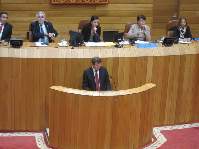 Alberto Núñez Feijóo en la sesión de investidura