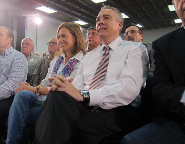 Carme Chacón y Pere Navarro