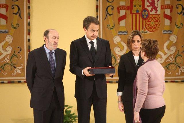 Zapatero, Rubalcaba y Chacón
