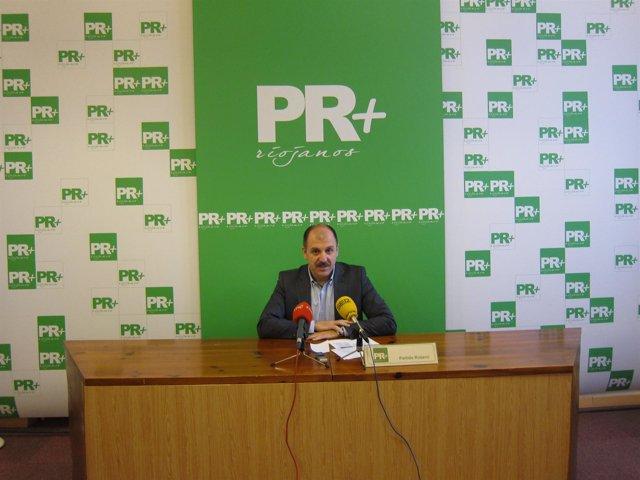 El Presidente Y Diputado De PR+ Riojanos, Miguel González De Legarra