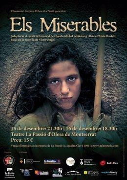 Cartel de promoción de 'Els Miserables'