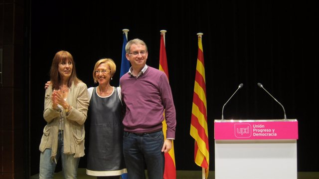 Teresa Giménez, Rosa Díez, Ramón de Veciana (UPyD)