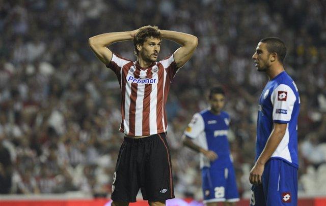 Fernando Llorente lamenta el empate ante los israelíes