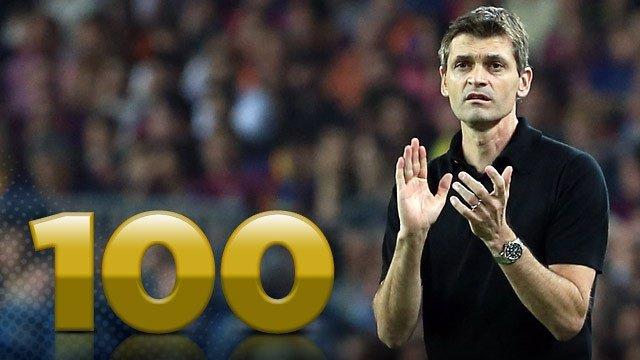 El entrenador del FC Barcelona, Tito Vilanova, llega a los 100 días