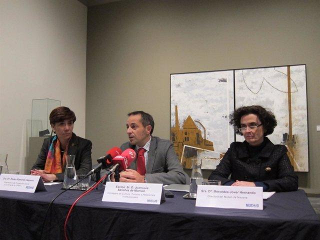 Presentación de una exposición de la UPNA en el Museo de Navarra.