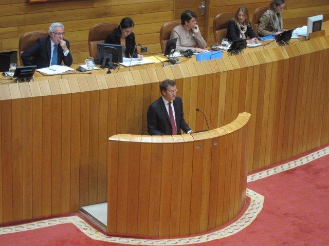 Alberto Núñez Feijóo en la sesión de investidura.