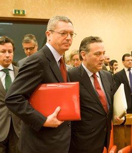Alberto Ruiz Gallardón Y Alfredo Prada
