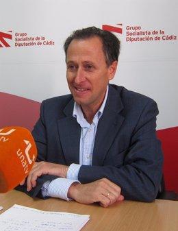 José María Román, portavoz del Grupo Socialista de la Diputación de Cádiz