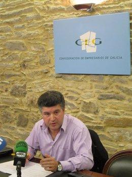 El portavoz de la asociación de empresarios ganaderos, Xaquín López