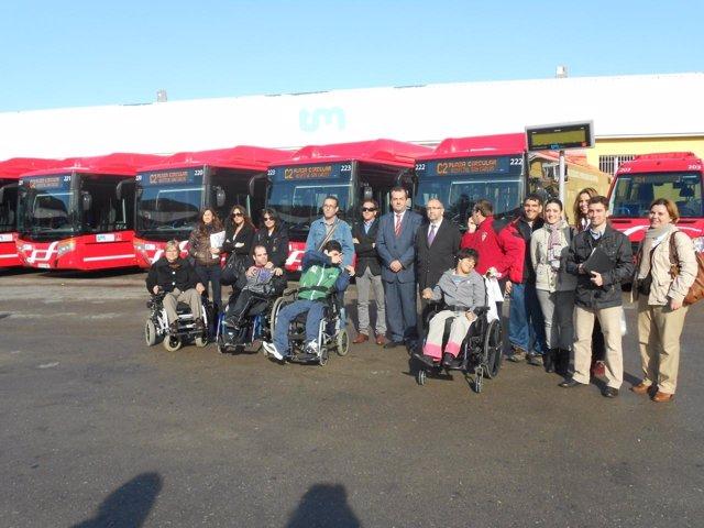 Imagen de los autobuses 'coloraos'