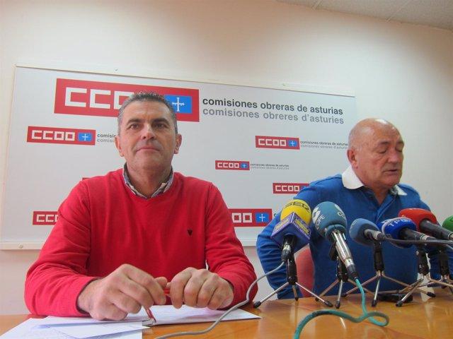 García (izquierda) y Montes, durante la rueda de prensa.
