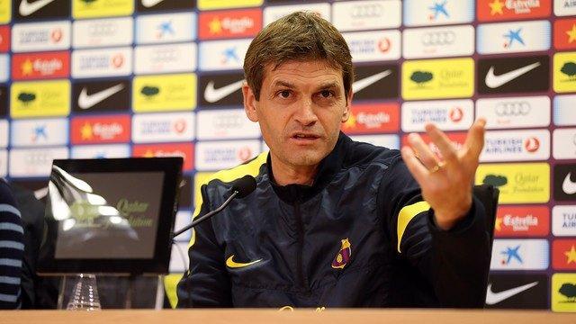El entrenador del FC Barcelona, Tito Vilanova, en rueda de prensa