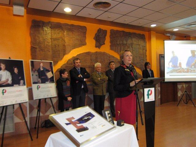 La presidenta Rudi este martes en el acto de la Fundación Picarral