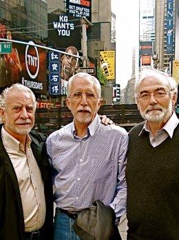 Juan Pedro Aparicio, Luis Mateo Díez y José María Merino