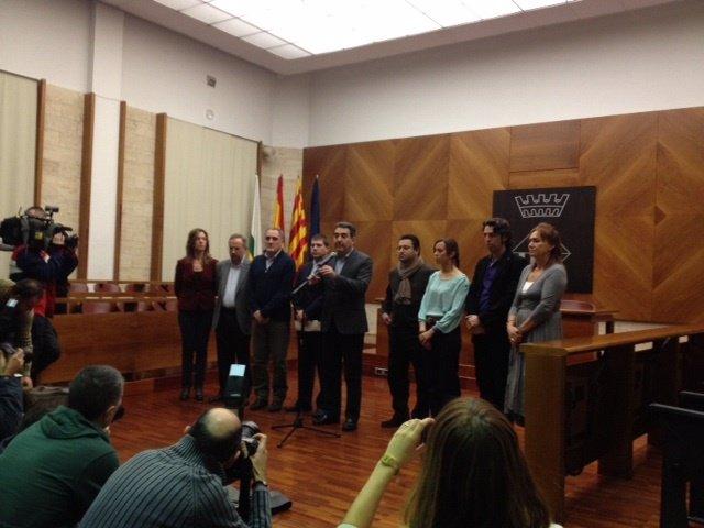 Comparencia de M.Bustos en el Ayuntamiento de Sabadell