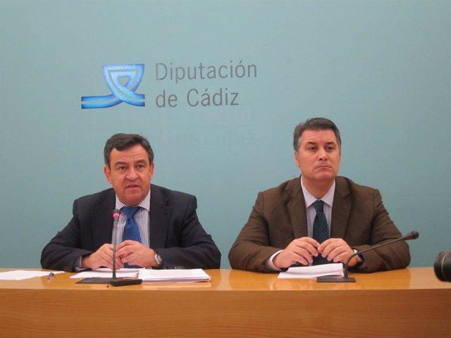José Loaiza, presidente de Diputación, junto a Ignacio Romaní,  del IEDT
