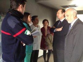 Carrón felicita a los profesionales por su diligencia en la extinción del incendio en el Hospital de Talarrubias