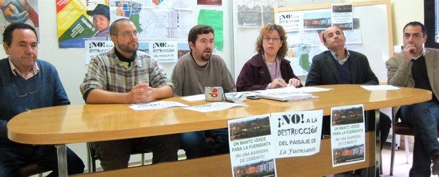 Miembros de la Plataforma en Defensa del Paisaje de la Fuensanta