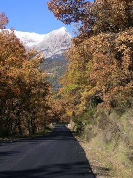 Un tramo de la carretera entre Seira y Barbaruens, mejorado por la DPH