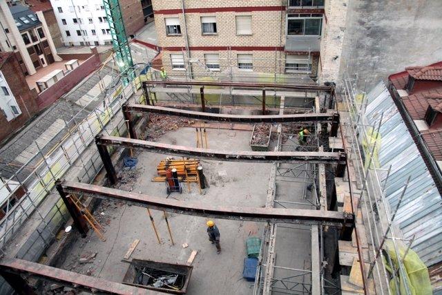 Imagen de la planta tercera, vista desde la séptima del edificio de Ordoño II