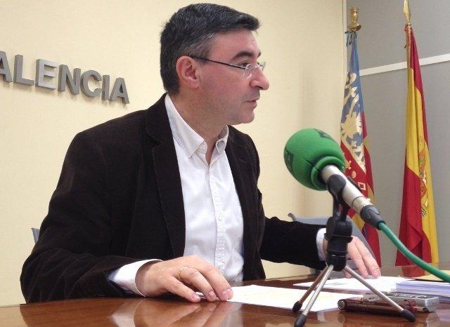 El representante del PSPV Pedro M. Sánchez