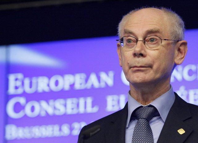 Van Rompuy comparece tras la cumbre sobre el presupuesto